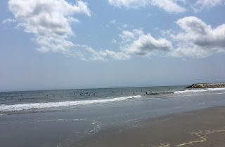 本日の一宮海岸の様子