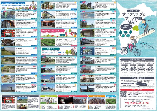 サイクリング&サーフ体験MAP サイクリングスポット一覧
