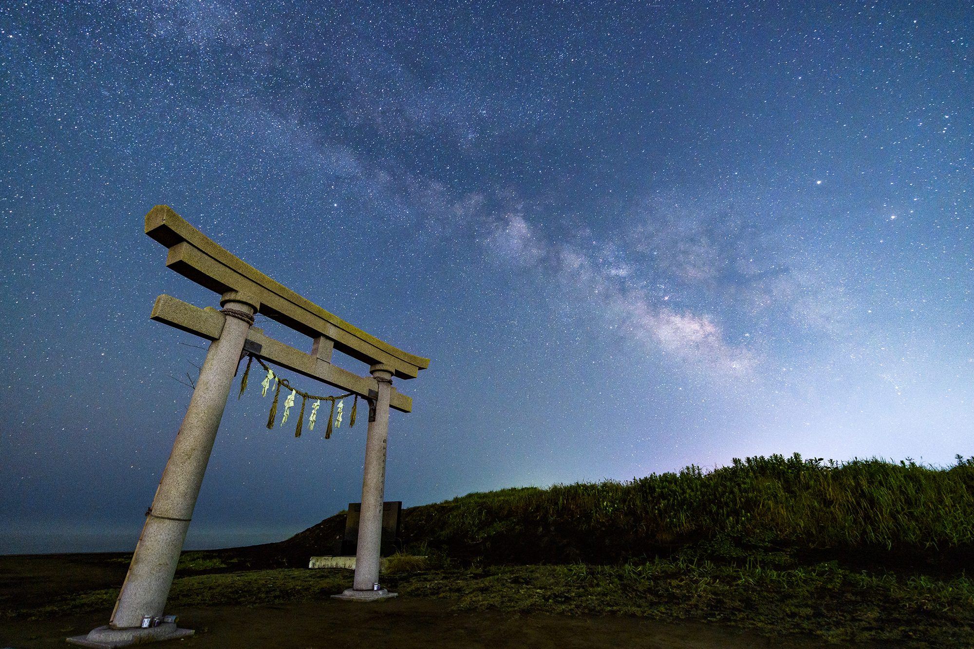 写真 釣ヶ崎海岸の天の川